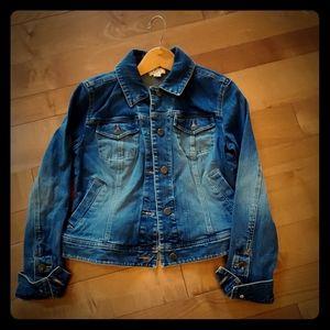 Ann Taylor loft blue jean denim jacket